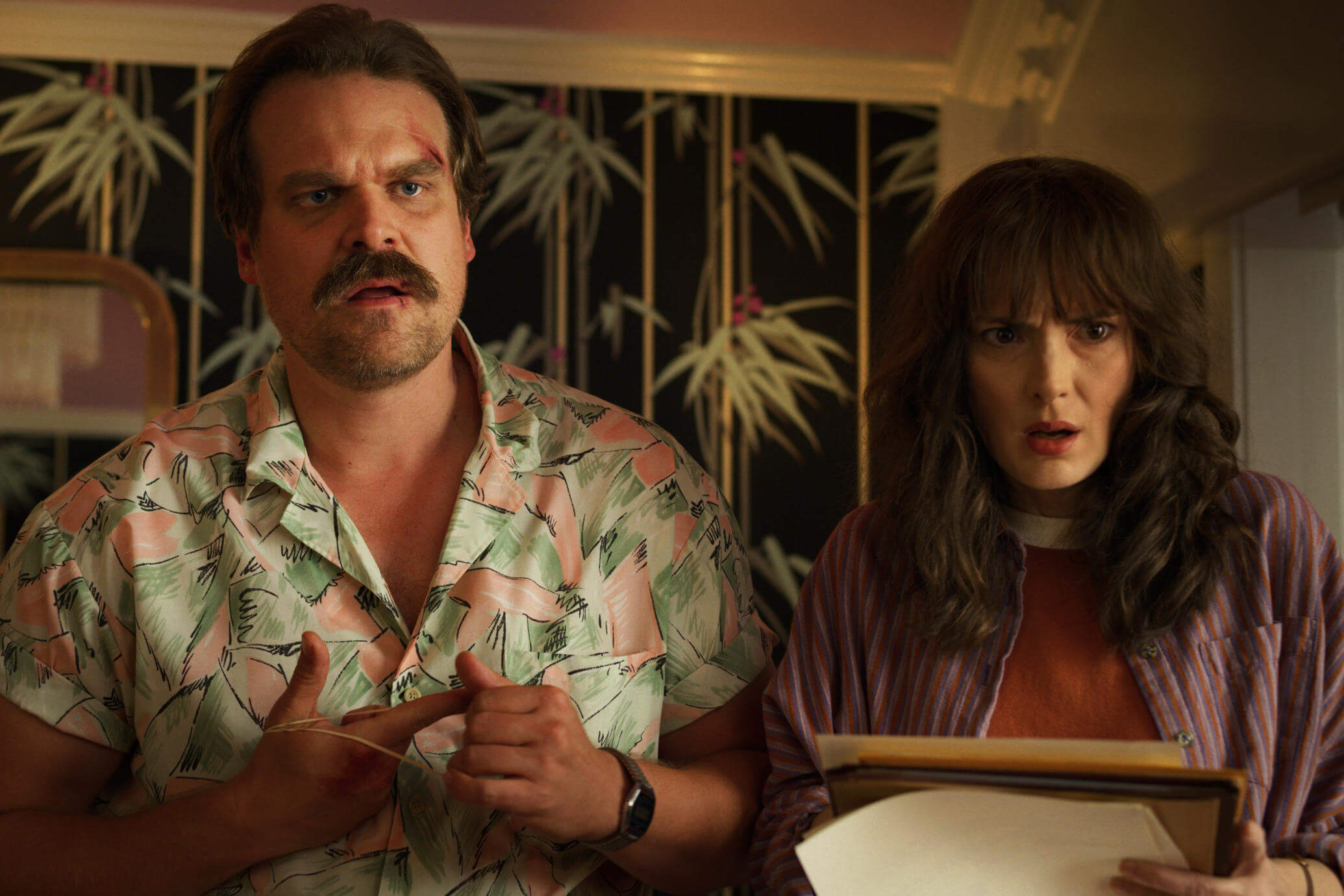 Joyce and Hopper are teamed up together to solve a mystery in Stranger Things 3.