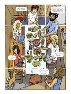 Black Paradise Page 70 by Veerle Hildebrandt. Written and drawn by Veerle Hildebrandt. Published by Europe Comics. June 12, 2019.