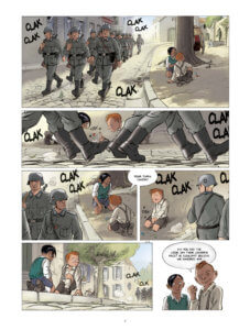 Children of the Resistance: Opening Moves Page 4 by Benoît Ers. Written by Vincent Dugomier and drawn by Benoît Ers. Published by Europe Comics. 12 June, 2019.