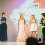 Ashley Eckstein with the junior designer winners