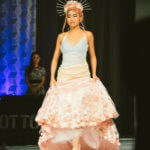 "Junior Designer winner Emily in her ""Pearl Gala"" design"