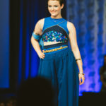 "Junior Designer winner Kayla in her ""Ultra Lapis"" design"