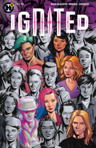Ignited Cover by Mike McKone and Leonardo Paciarotti. Written by Kwanza Osajyefo and Mark Waid, drawn by Philippe Briones. Published by Humanoids. June 5, 2019.