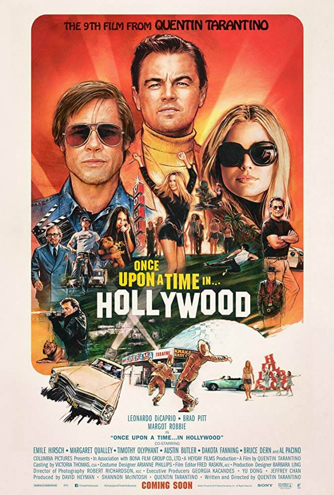 Once Upon a Time...in Hollywood poster with the cast looking out to the viewer.