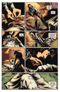 Mafiosa preview page 3 - Nicoletta examines a dead body covered in a sheet