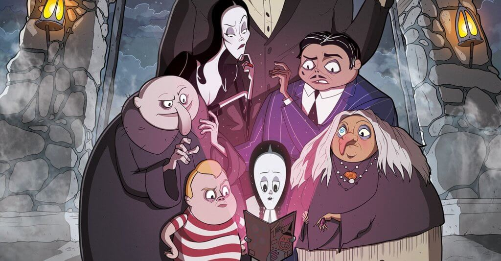 The Addams Family: The Bodies Issue cover by Philip Murphy
