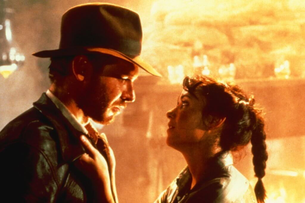 Indiana Jones and Marion Ravenwood reunite and fight. Indiana Jones is cited often as the source of inspiration for Hopper's character.
