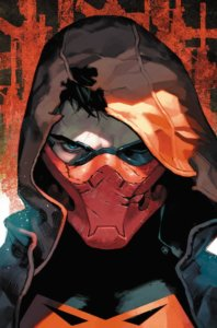 Portrait of the Red Hood with a torn hood