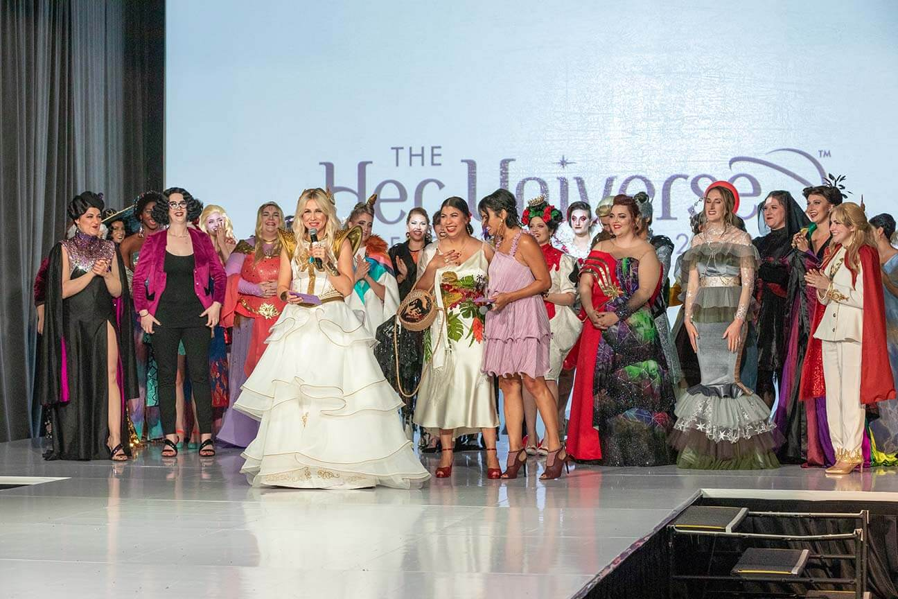 Ashley Eckstein with all the designers and models for the 2019 fashion show