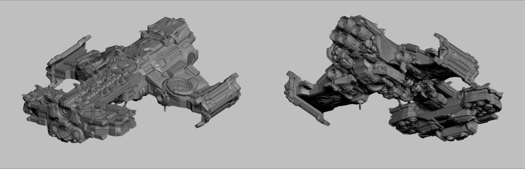 Spaceship from Starcraft process images