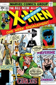 The cover of Uncanny X-Men #111 showing the X-Men in their circus personas.