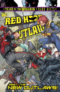 Cover for Red Hood: Outlaw #37, Steve Firchow (colors), Scott Lobdell (writer), ALW's Troy Peteri (letters), Kenneth Rocafort (art and cover) - Red Hood training a new class of outlaws