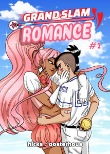 Grandslam Romance #1 Cover by Emma Oosterhous. Gumroad.