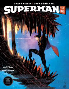 Cover for Superman: Year One #2, Danny Miki (inks and cover), Frank Miller (writer), John Romita Jr. (pencils and cover), Alex Sinclair (color and cover), John Workman (letters) - Superman in the jaws of a sea monster