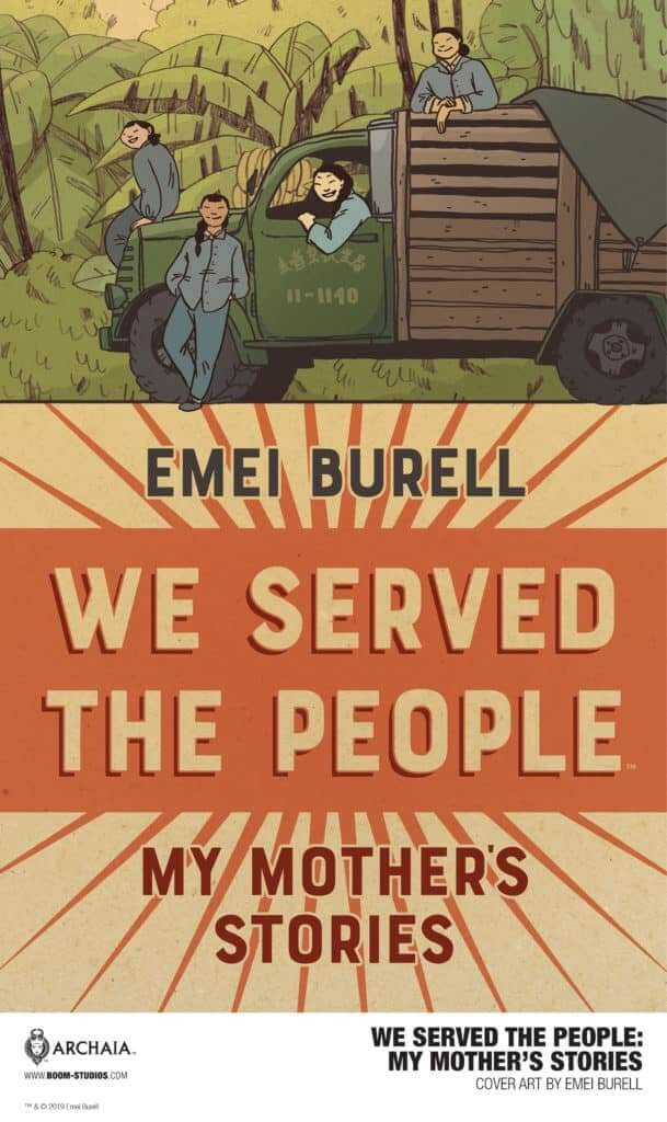 We Served the People: My Mother's Story, cover by Emei Burell, BOOM! Studios, 2019