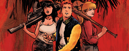 Cover of Archie vs Predator 2: Revenge Comes to Riverdale #1 Rick Burchett with Rosario Tito Peṅa, Derek Charm, Francesco Francavilla, Robert Hack with Kelly Fitzpatrick, Dan Parent, Billy Tucci with Wes Hartman (Covers); Alex di Campi (Story); Kelly Fitzpatrick (Coloring); Robert Hack (Line Art); Jack Morelli (Line Art) C Archie Comics/Dark Horse Comics July 24th, 2019