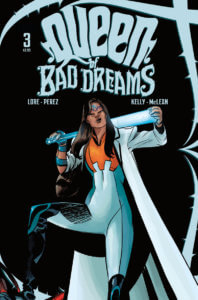 Cover for Queen of Bad Dreams #3 - Titan Comics, Dearbhla Kelly (colorist), Danny Lore (writer), Kim McLean (letterer), Jordi Pérez (artist), May 29, 2019 - Judge Daher poses with her weapon