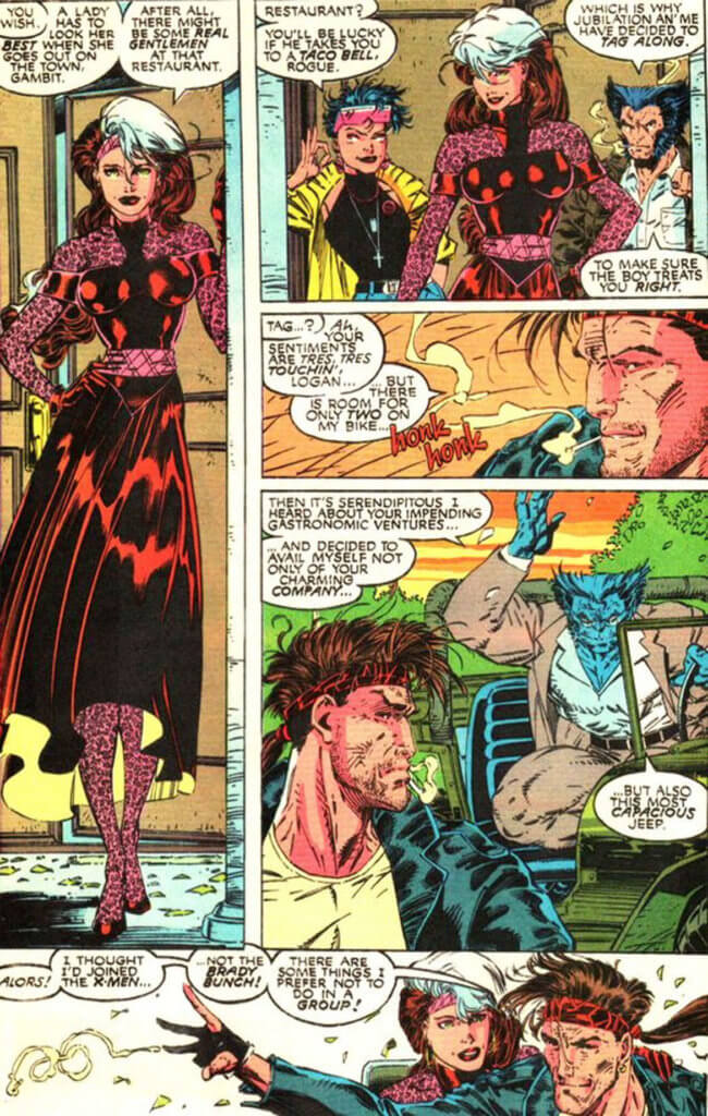 Rogue gets all dolled up for a date with Gambit