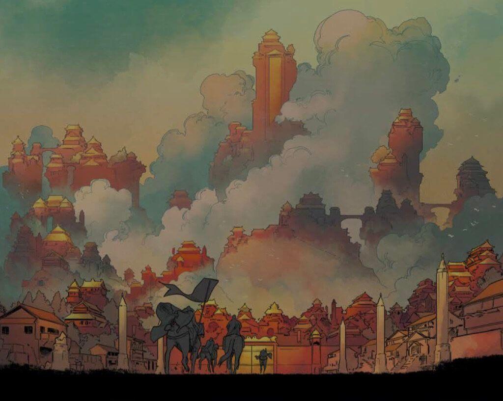 Panel from The White Trees #1, Kris Anka Line art, Matt Wilson color art, Image Comics August 2019