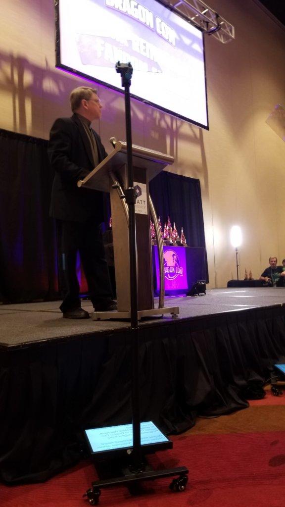 Charles Gannon hosts the 2019 Dragon Awards