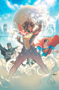 Cover for Action Comics #1015 - Brad Anderson (colors), Brian Michael Bendis (writer), Szymon Kudranski (artist), David Marquez (cover), Alejandro Sanchez (cover), Dave Sharpe (letters) - Naomi in front of the Daily Planet and Superman and Batman