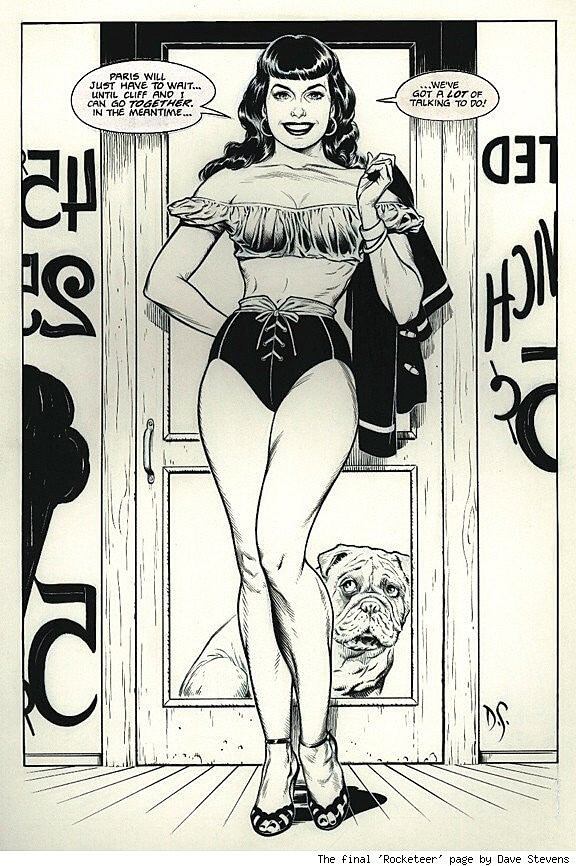 A picture of Bettie Page by Dave Stevens, published in 2001