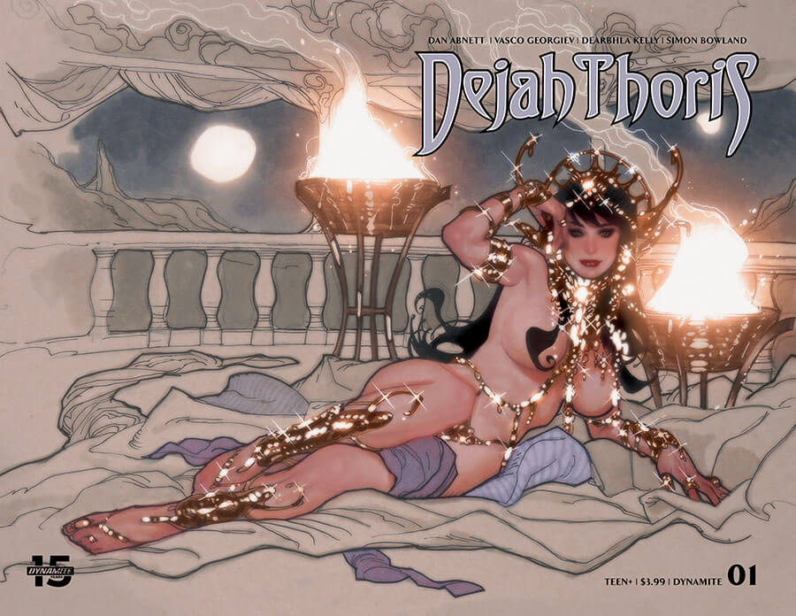 Censored Wraparound Adam Hughes cover of Dejah Thoris #1, C 2019 Dynamite Comics
