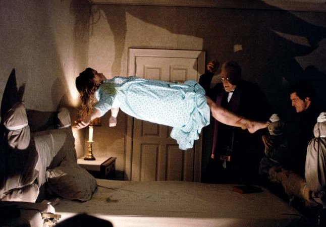 The Exorcist: Regan levitating while possessed.