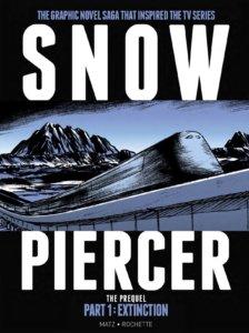 Snowpiercer: Extinction cover. Matz Rochette and Jean-Marc Rochette. Titan Comics. September 2019 - The Snowpiercer train against a mountainous background