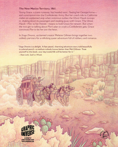 Stage Dreams back cover by Mel Gillman image via Lerner Books