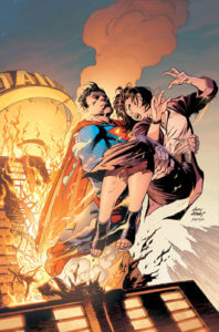 Cover for Superman: Up In The Sky #3 - Brad Anderson (colors), Clayton Cowles (letters), Sandra Hope (inks), Tom King (writer), Andy Kubert (pencils) - Superman rescuing Lois from a burning building