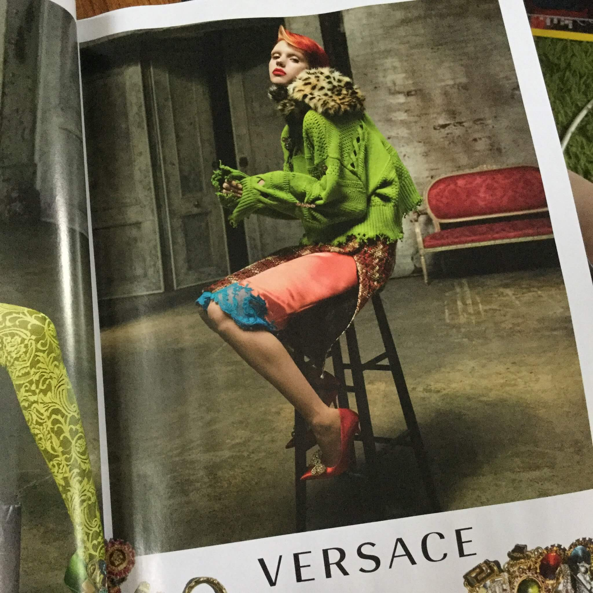 Versace advert in British Vogue, October 2019