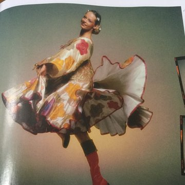 vintage Zandra Rhodes spread, British Vogue, October 2019