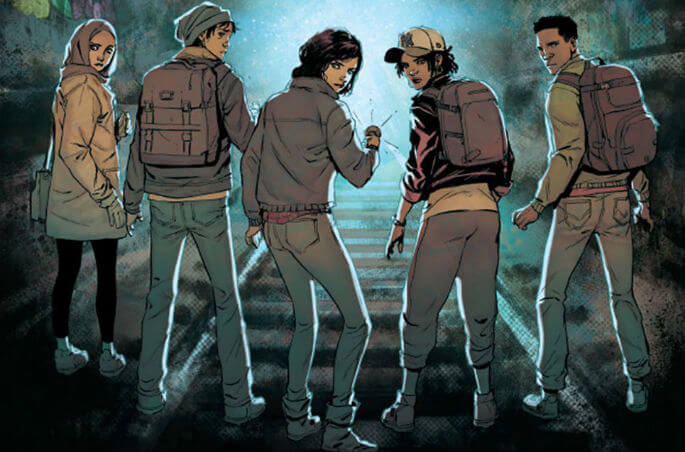 cropped cover to Lost City Explorers #1, Aftershock Comics
