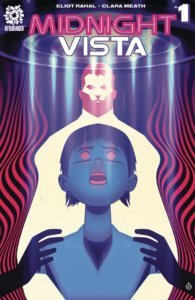 Juan Doe's cover to Midnight Vista #1, with the stylized depiction of a boy caught in the beam of a UFO.