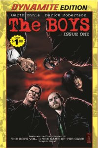 Cover of the special reprint edition of The Boys #1 C Dynamite Comics 2019 - The five main characters stand looking down at the viewer