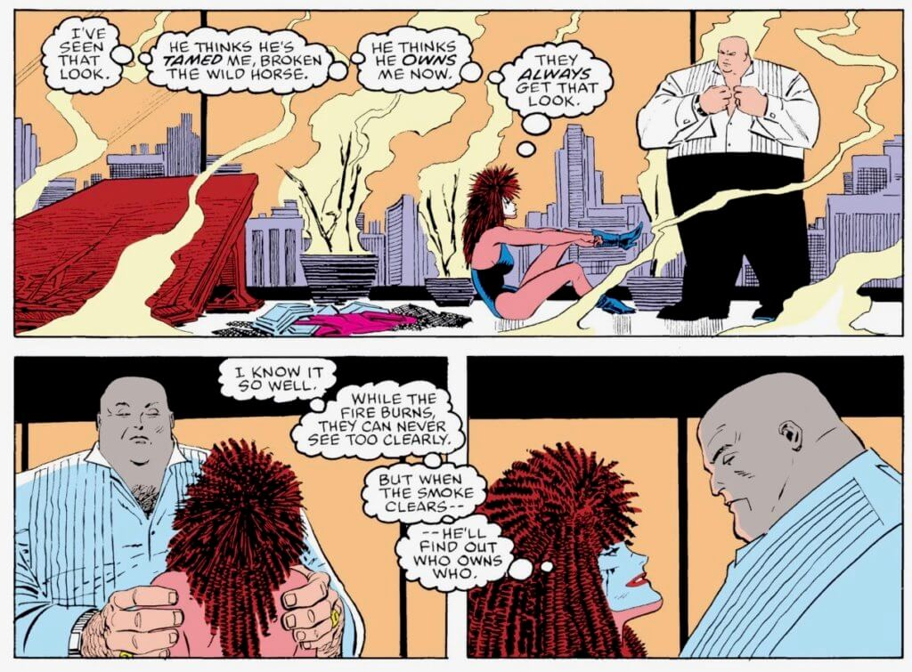 Typhoid Mary and Kingpin post coitus