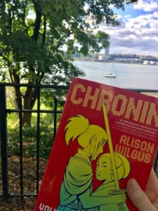 Chronin by Alison Wilgus, published by Tor Books, photo by Emily Lauer