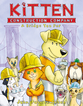 Kitten Construction Company Cover by John Patrick Green, image from MacMillan publishing