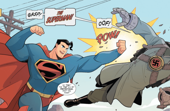 Look! Up in the Sky! Superman Smashes the Klan!