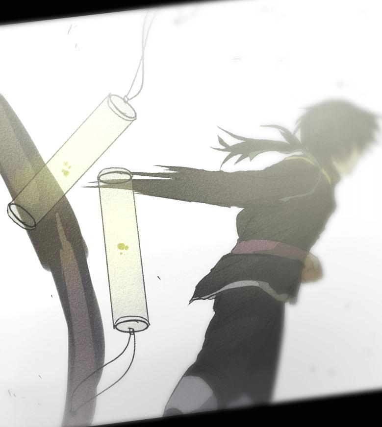Deor flings two bomb vials away, Deor by J.oori, Webtoon, 2019