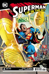 Cover for Superman: Up in the Sky #4 - Brad Anderson (colors), Clayton Cowles (letters), Sandra Hope (inks), Tom King (writer), Andy Kubert (pencils) - Superman losing to the Flash