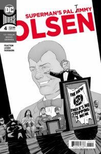 Cover for Superman's Pal Jimmy Olsen #4 - Clayton Cowles (letters), Nathan Fairbairn (colors and cover), Matt Fraction (writer), Steve Lieber (art) - Jimmy Olsen giving a campaign speech