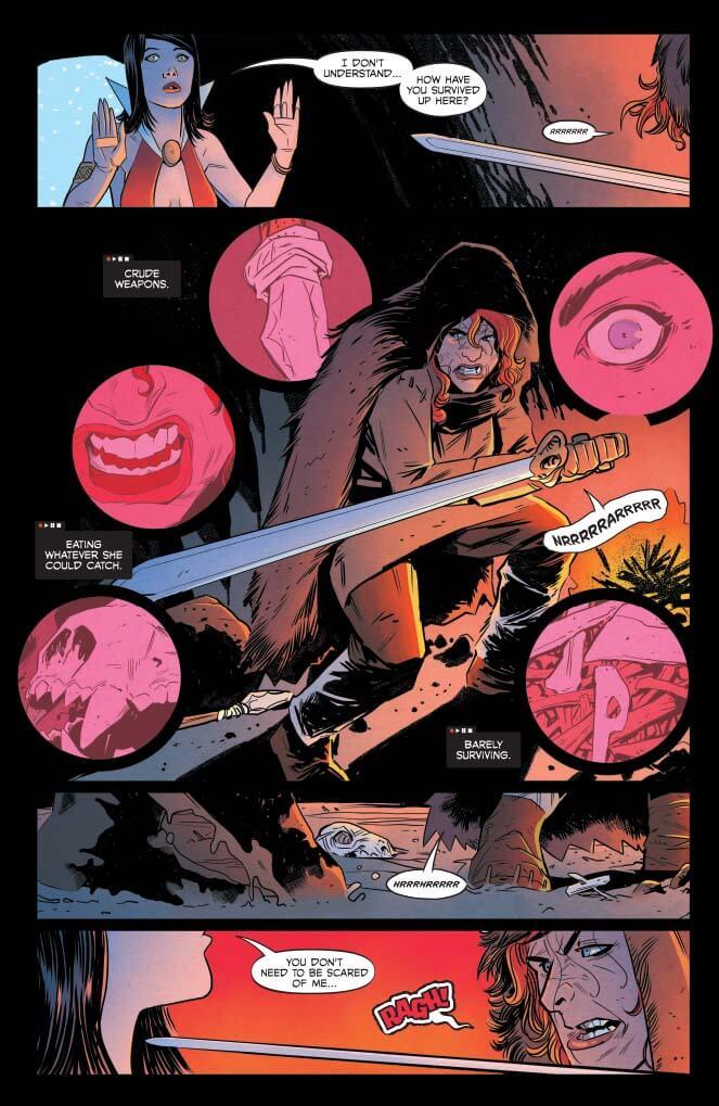 comic Panel art for Red Sonja and Vampirella #2 C 2019 Dynamite Comics