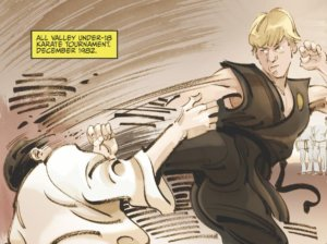 Johnny Lawrence doing karate