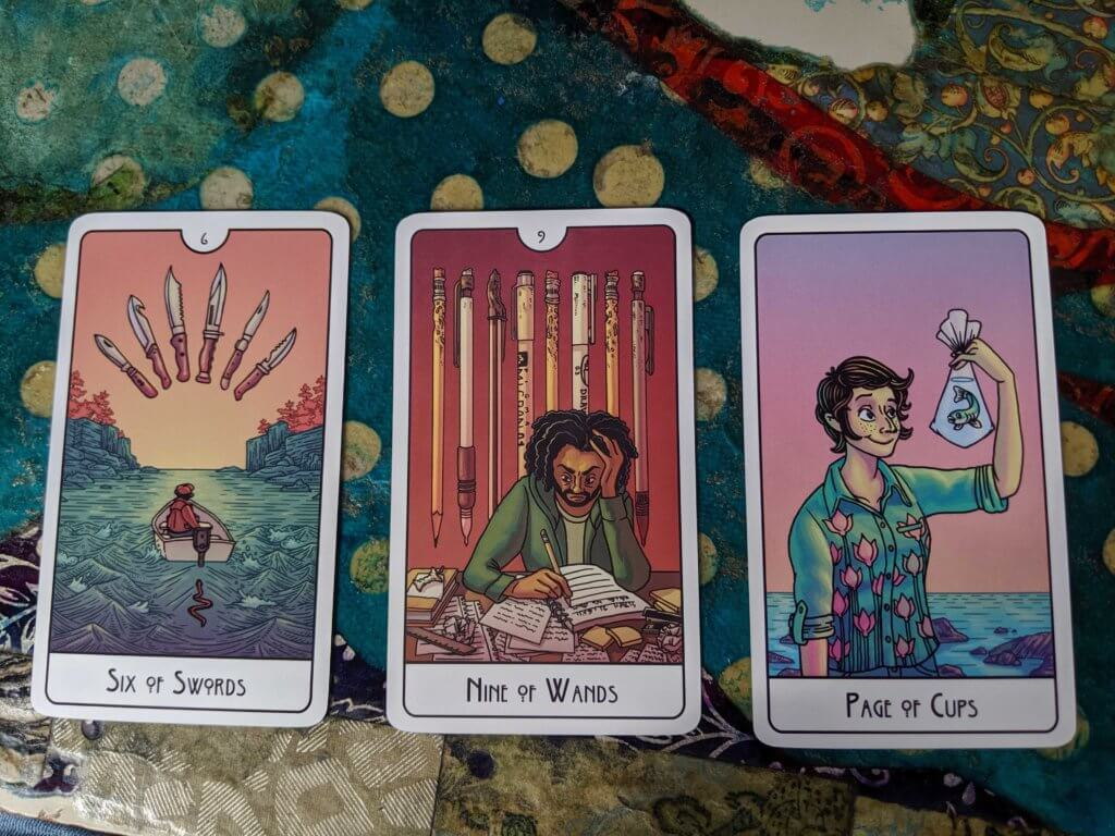 The Six of Swords, the Nine of Wands & the Page of Cups: new twists on classic cards