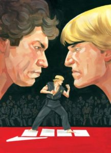 Cover art for Cobra Kai #1 shows Johnny Lawrence and his teacher Kreese