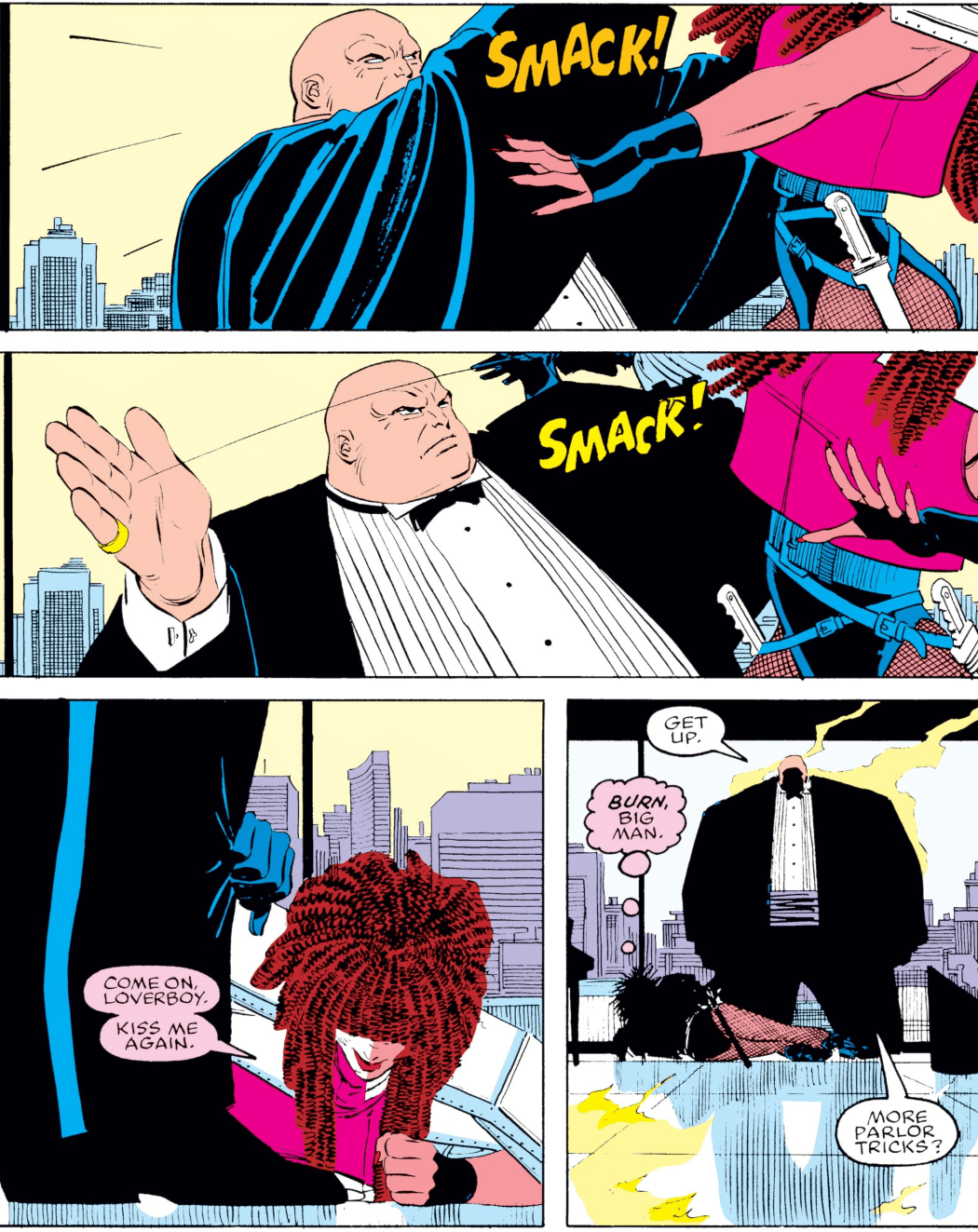 Kingpin Slaps Typhoid Mary in Daredevil