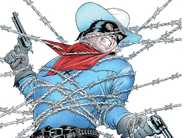Panel Art for The Lone Ranger: The Devil's Rope TPG John Cassaday (Cover); Hassan Otsmane-Elhaou (Letters); Bob Q (Colors and Art); Mark Russell (Writing); Jose Villarubia (Cover Colors) September 18th, 2019 Dynamite Comics
