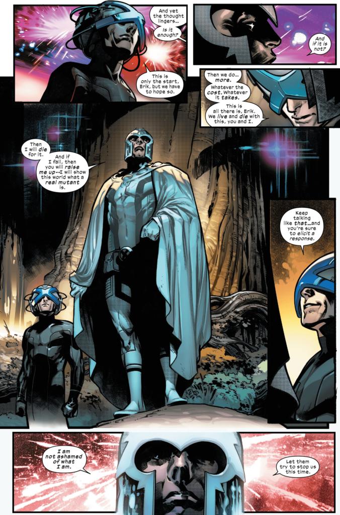 """Magneto speaks to Xavier on Krakoa, assuring him that """"[he] is not ashamed of what [he] is."""""""
